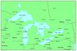 Sea maps series: Great Lakes