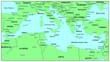Sea maps series: Mediterranean Sea