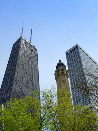 Chicago water tower and Hancock center