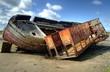 Wrecked Trawler on Roa Island, Barrow in Furness