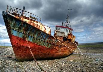 Trawler on Roa Island Causeway, Barrow in Furness