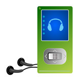 Mp3 player green poster
