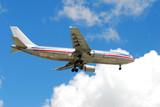 Airborne passenger airliner poster