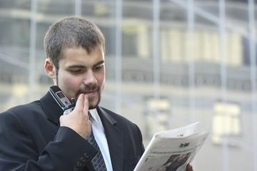Busy businessman