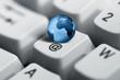 Blue Earth on keyboard