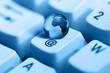 blue planet on keyboard