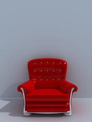 Poltrona classica rossa