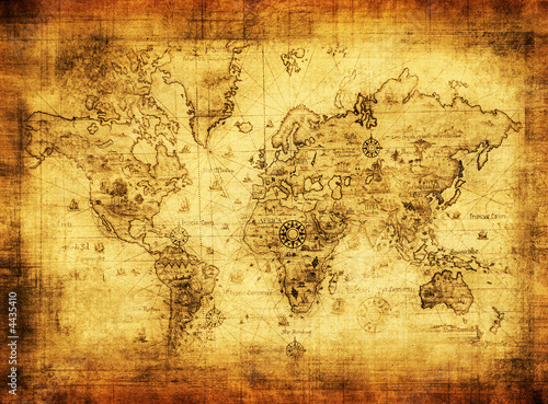 Fototapety, obrazy : ancient map of the world