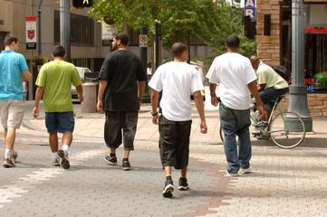 Group at Crosswalk