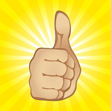 Thumb Up Gesture (editable vector or jpeg image)