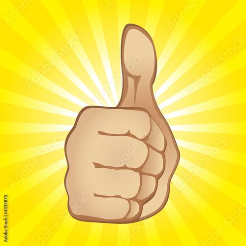 Thumb Up Gesture (editable vector or jpeg image)