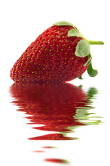 Strawberry on water