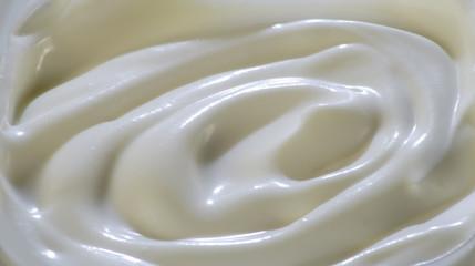 Milky cream surface