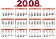 Kalender 2008 rot Querformat