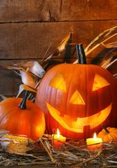 Funny face pumpkin