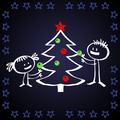 Sapin de Noël cartoon
