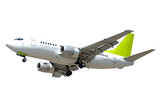 airliner on white background poster