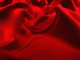 red silk fabric-