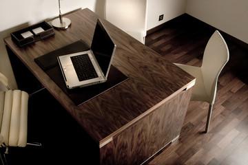 laptop in modern office