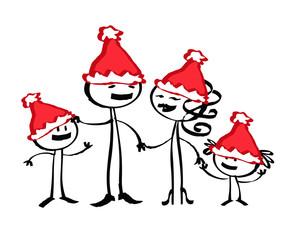 Famille père Noël