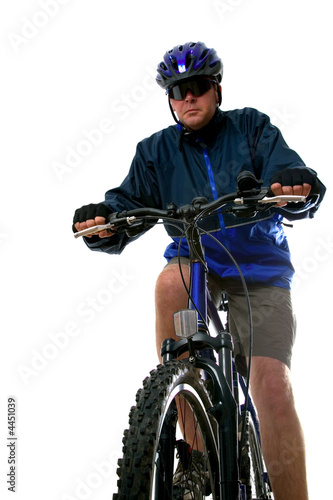 Man on a Mountain bike