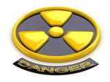 Conceptual radioactive sign poster
