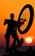 roleta: mountain biker silhouette