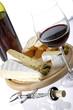 rotwein und käse