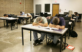 Adult Ed - Asleep in Class poster