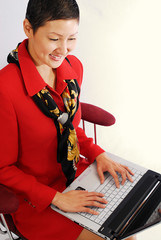 Asian Businesswoman with Laptop III