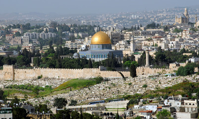 Jerusalem with the Temple of rock, Israel