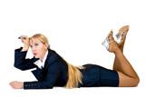 Thinking businesswomen poster