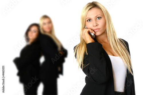Caucasian businesswoman on phone