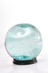 Crystal ball with swirling blue
