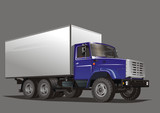 Vector Delivery Heavy Truck poster