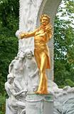 The Statue of Johann Strauss in stadtpark in Vienna, Austria poster