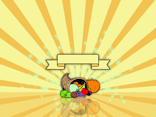 Thanksgiving background with cornucopia