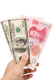 Chinese yuan and us dollar poster