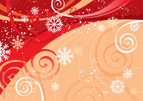 New Year's Fun Background (editable vector or jpeg image)