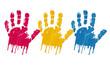 mains couleurs primaires
