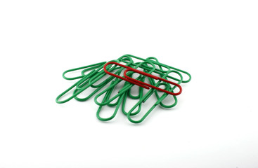 Office paper clips.
