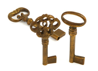 ornamented old keys