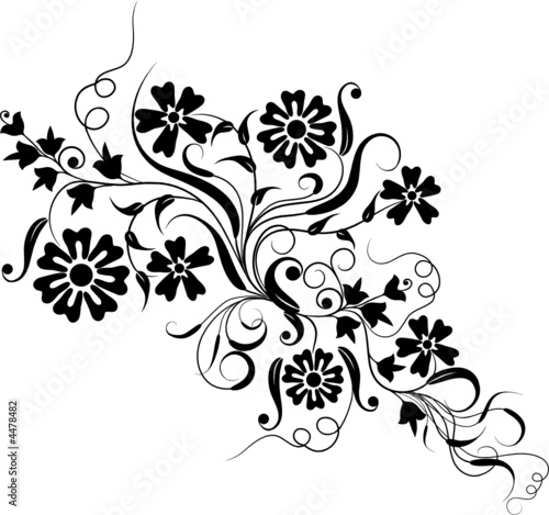 Floral element for design, vector © Tolchik