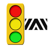 traffic light illustration poster