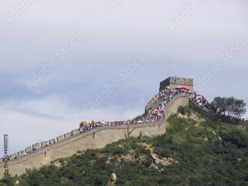 Keuken foto achterwand Chinese Muur Promeneurs sur la Grande Muraille, Chine