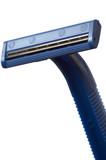 Dark blue safety razor poster