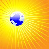Shining World Earth ATLANTIC poster