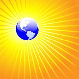 Shining World Earth AMERICAS poster