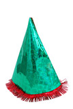 Party hat isolated on white poster