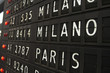 Paris and Milano - airport info board